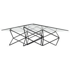 Paolo Piva Style Wire Frame Coffee Table