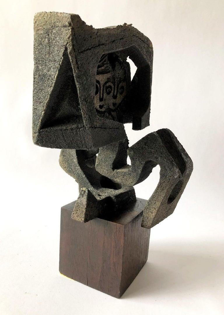 Paolo Soleri Original Bronze Sculpture, Winged Angel Form