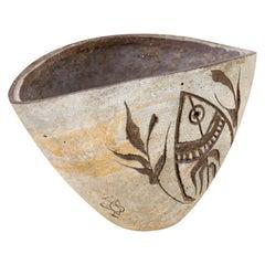 Paolo Soleri Ceramic Pottery Vessel from Arcosanti