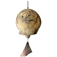 Paolo Soleri Cosanti Ceramic Abstract Decoration Wind Chime Bell