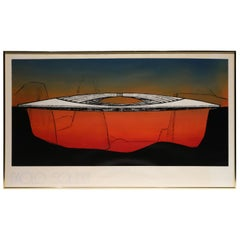 "Paolo Soleri Silkscreen ""Bow Bridge"""