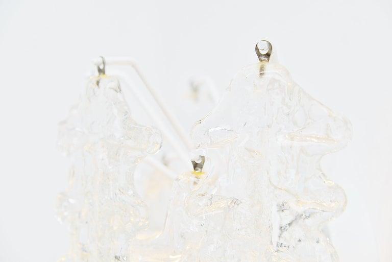 Italian Paolo Venini Clear Glass Wall Lamp, Italy, 1960 For Sale