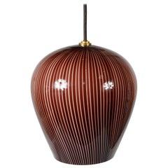 Paolo Venini Glass Pendant Lamp