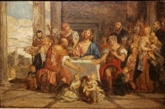 After Paolo Veronese, Supper at Emmaus, 19h, oil on canvas