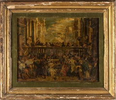 The Wedding at Cana Oil on Canvas Figurative Painting 19th After Paolo Veronese
