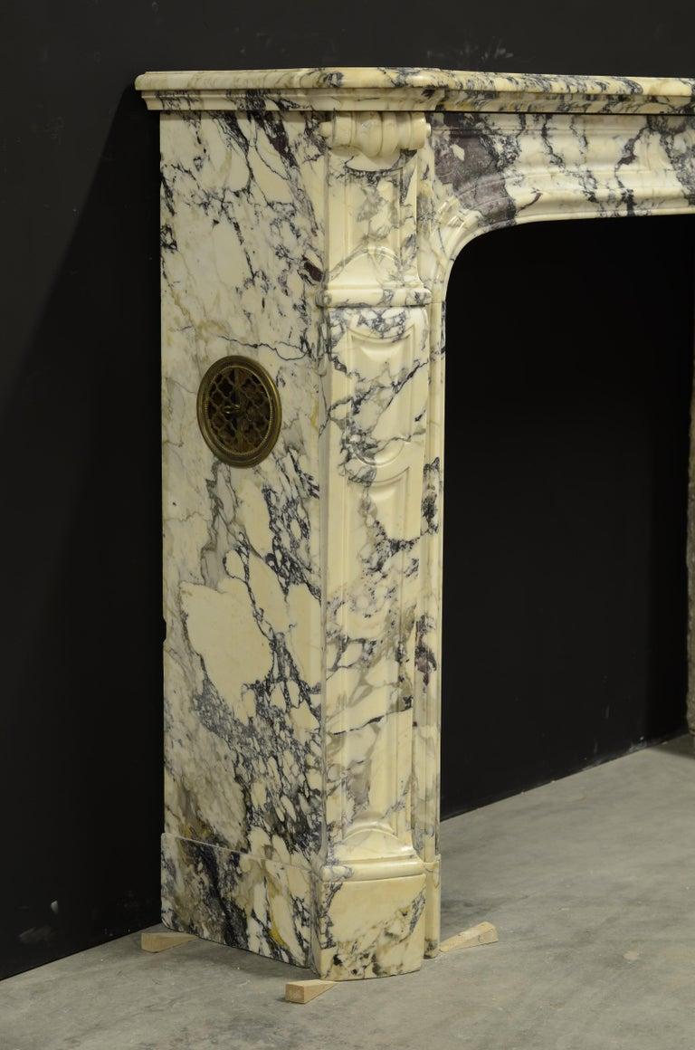 Paonazetto Pompadour Fireplace Mantel For Sale 3