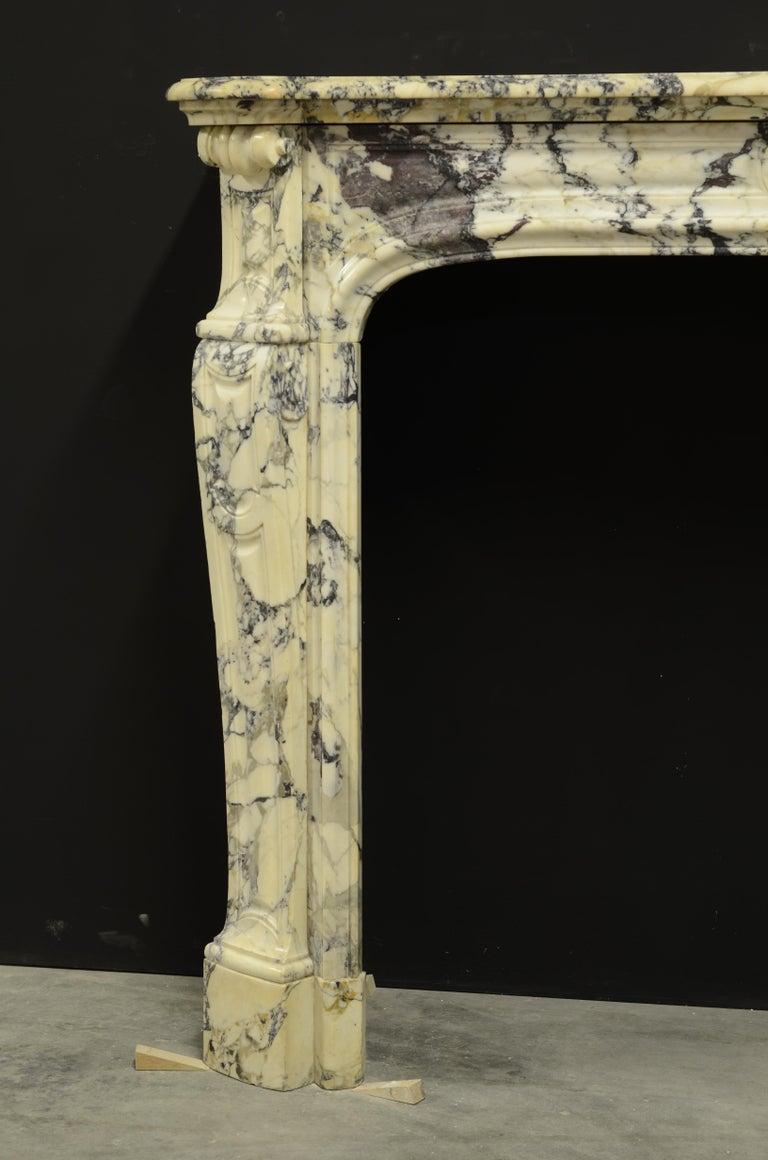 Paonazetto Pompadour Fireplace Mantel For Sale 4