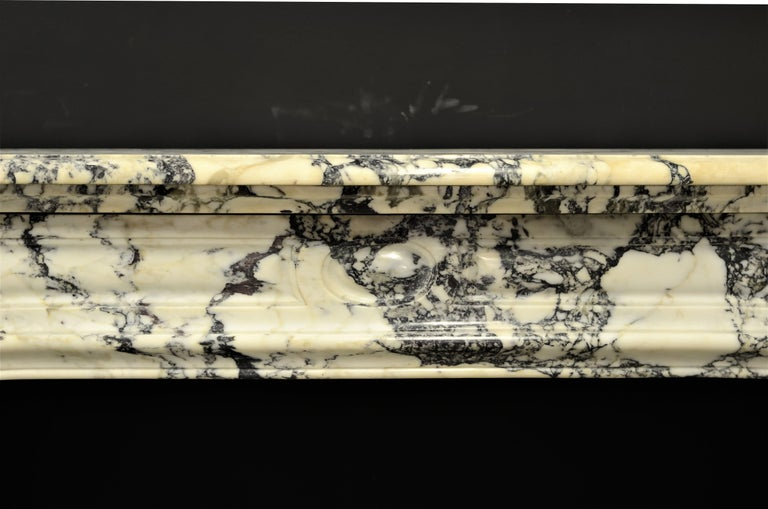 Louis XV Paonazetto Pompadour Fireplace Mantel For Sale
