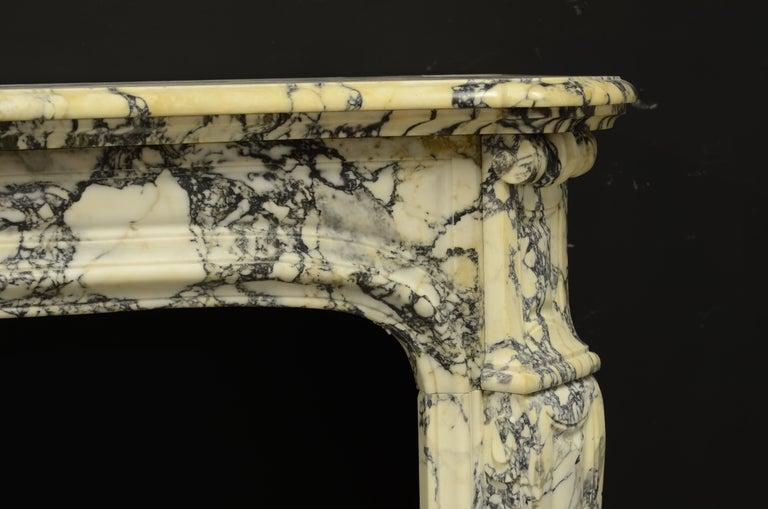 Paonazetto Pompadour Fireplace Mantel For Sale 1