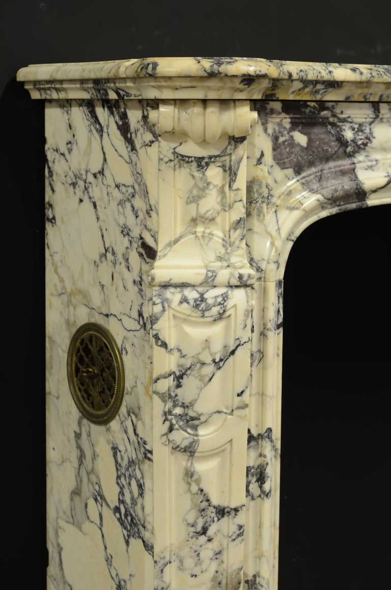 Paonazetto Pompadour Fireplace Mantel For Sale 2