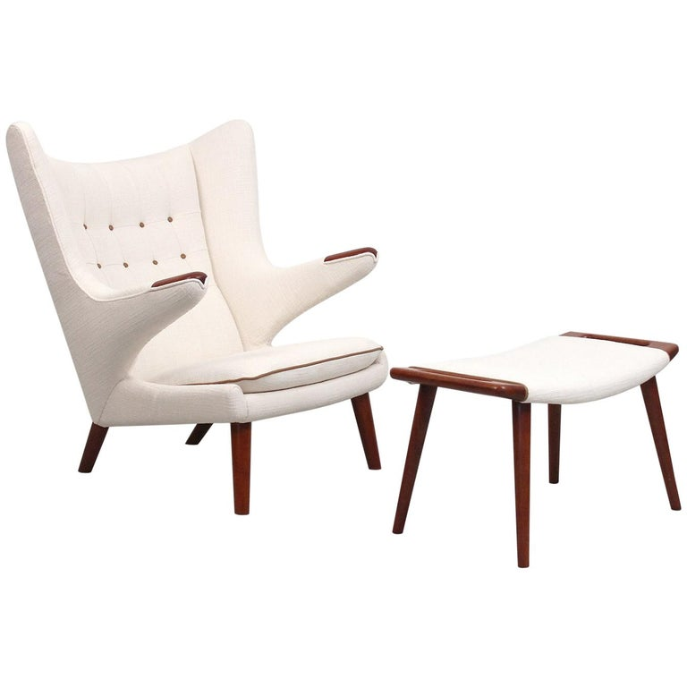 Stupendous Papa Bear Chair And Ottoman By Hans Wegner At 1Stdibs Ibusinesslaw Wood Chair Design Ideas Ibusinesslaworg