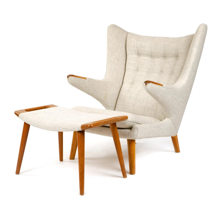 Papa Bear Chair by Hans J. Wegner In Excellent Condition In Sagaponack, NY