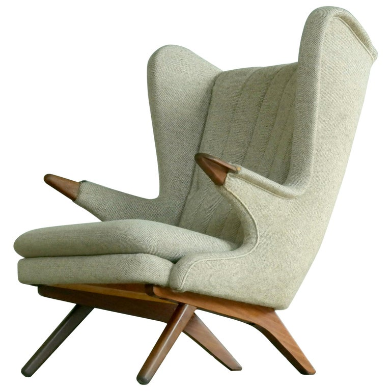 Papa Bear Lounge Chair Model 91 by Sven Skipper, 1960s For Sale