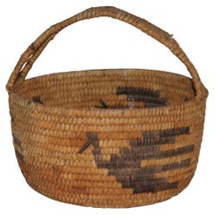 Papago American Indian Handled Basket