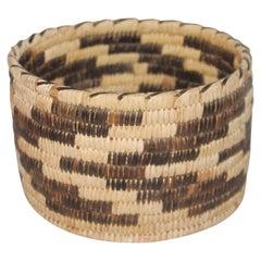 Papago Indian Basket in Geometric Pattern