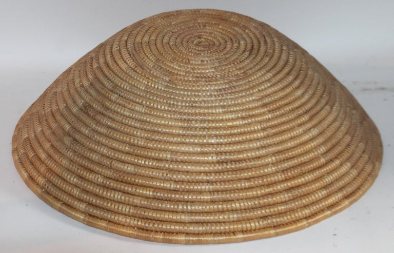 American Papago Indian Basket, Monumental For Sale
