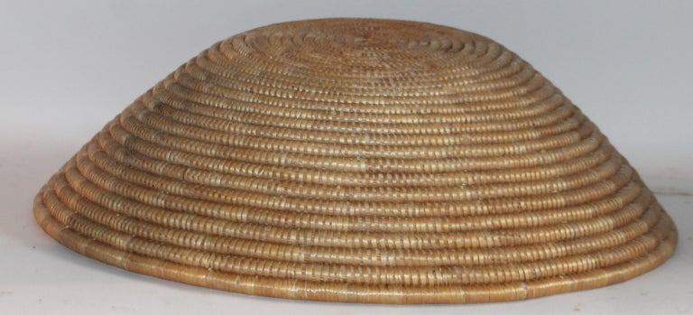 Hand-Crafted Papago Indian Basket, Monumental For Sale