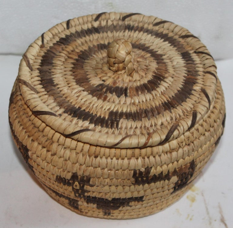 This Papago pictorial lidded basket in great condition.
