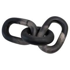 Papantla Handmade Black & Clear Resin Chain Sculpture, in Stock