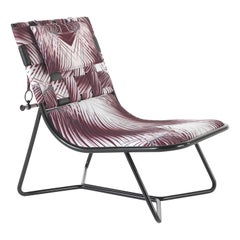 Papeete Outdoor Armchair in Metal with Fabric Upholstery by Roberto Cavalli