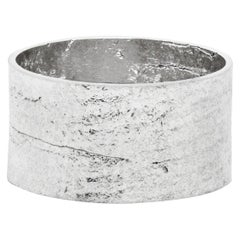 Paper Cigar Ring in Solid White Gold by Allison Bryan