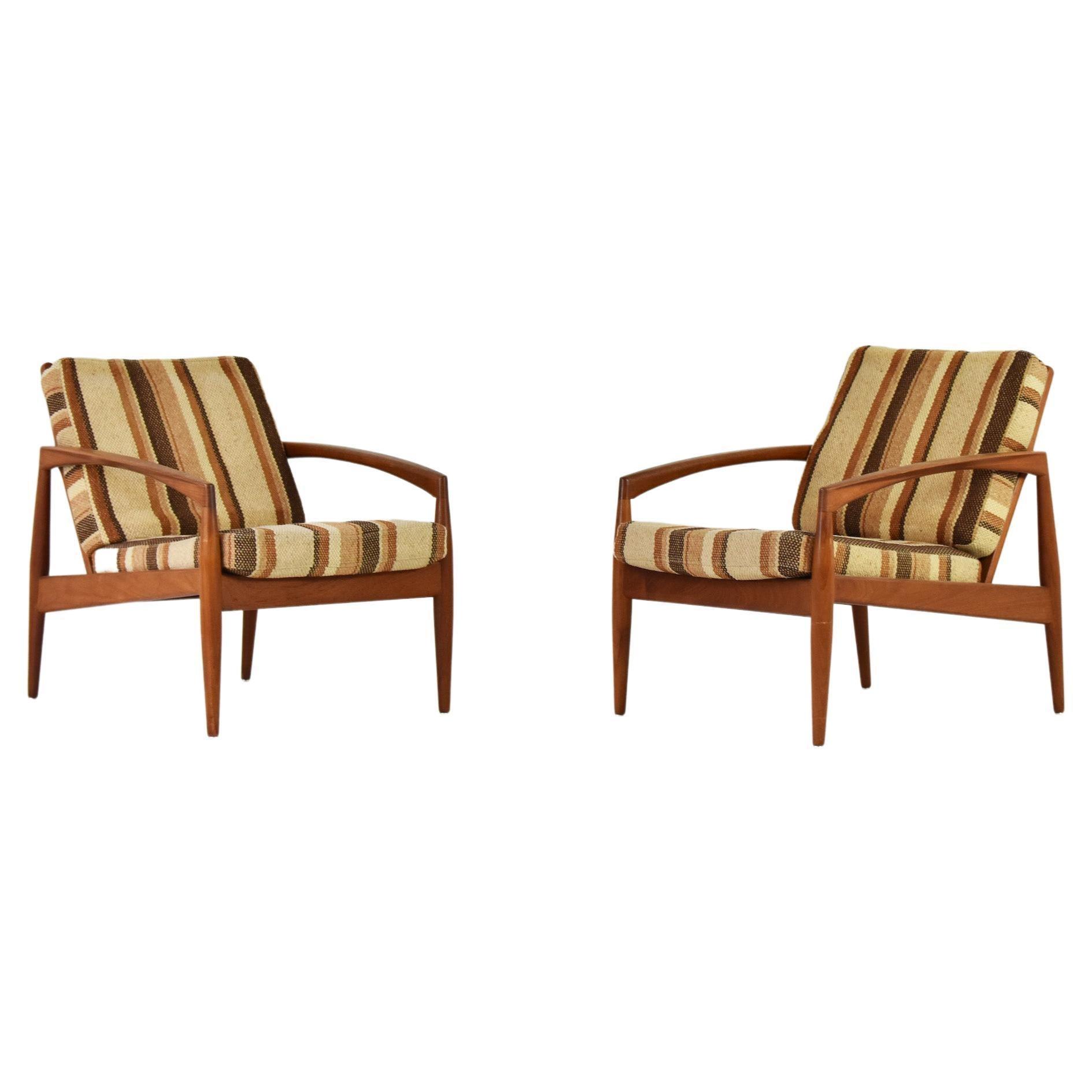 'Paper Knife' Lounge Chairs by Kai Kristiansen for Magnus Olesen, Denmark 1955