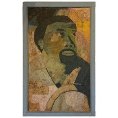 Paper Mosaic Portrait, Mid-20th Century