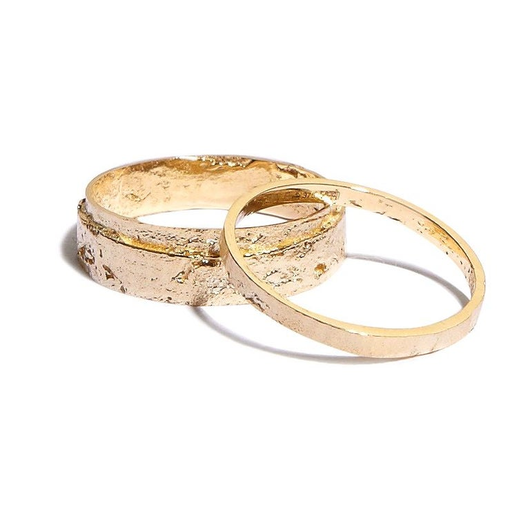 Paper Ring in 18 Karat Gold by Allison Bryan For Sale 1