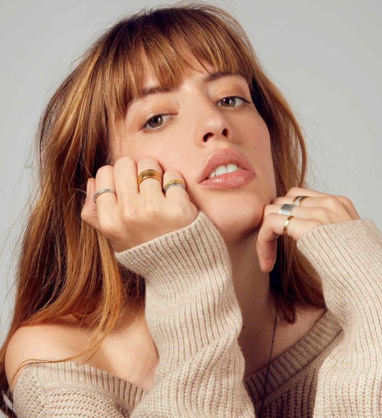 Women's Paper Ring in 18 Karat Gold by Allison Bryan For Sale
