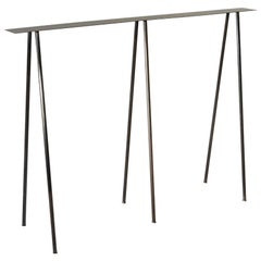 Paper Table S, Console Table in Stained Black Steel Finish by UMÉ Studio