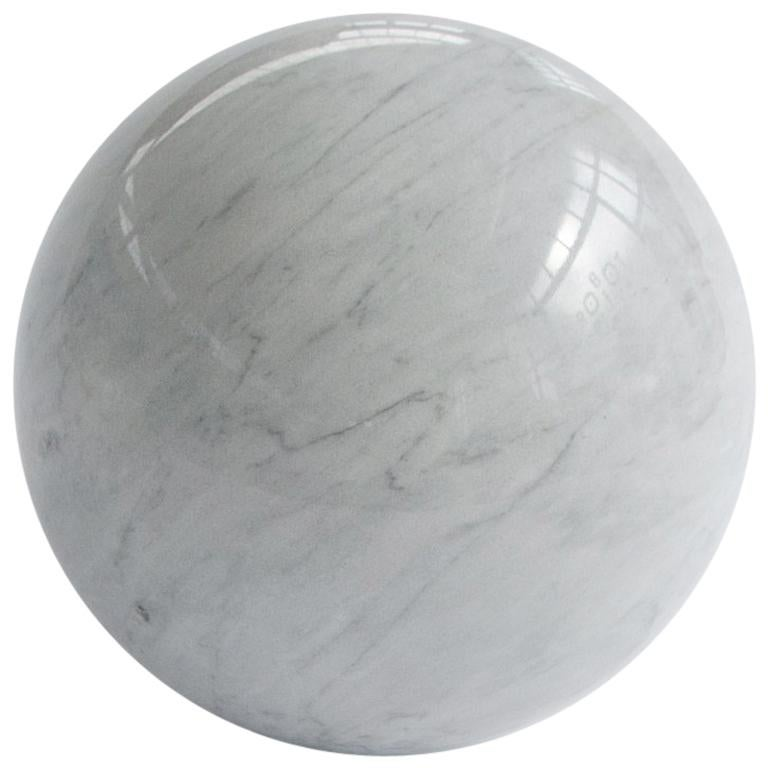 Paper Weight with Sphere Shape in Marble For Sale
