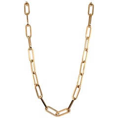 HARBOR D. Paperclip Link Chain Necklace 14 Karat Yellow Gold