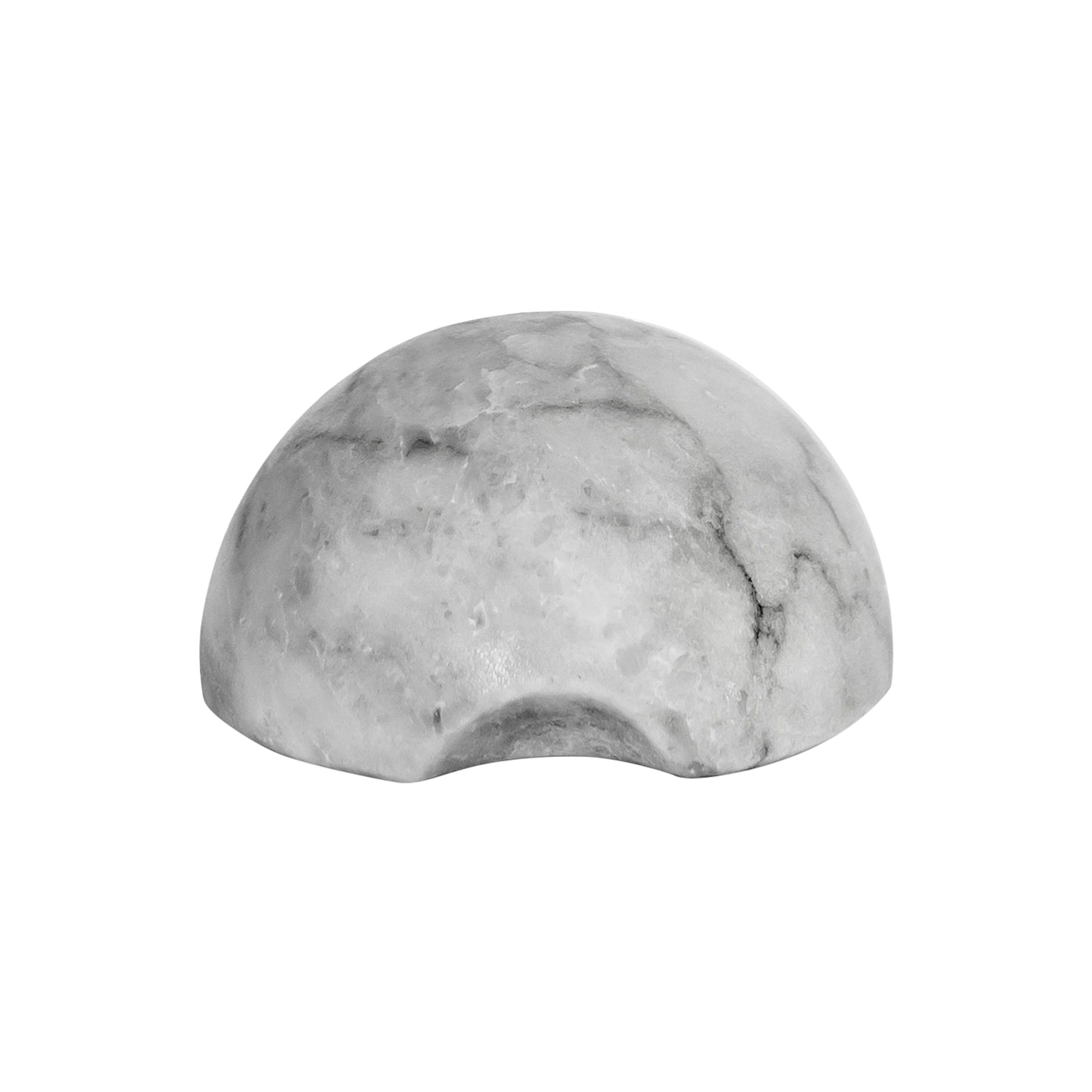 Paperweight in White Veneciano Marble