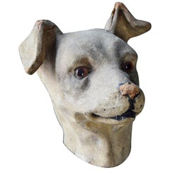 Papier Mâché Dogs Head