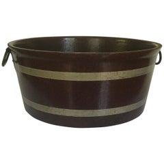 Papier Mâché English Grained Wood Tub
