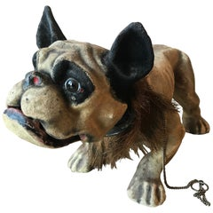 Papier Maché 'Growler' Bulldog Pull Toy, France, circa 1900
