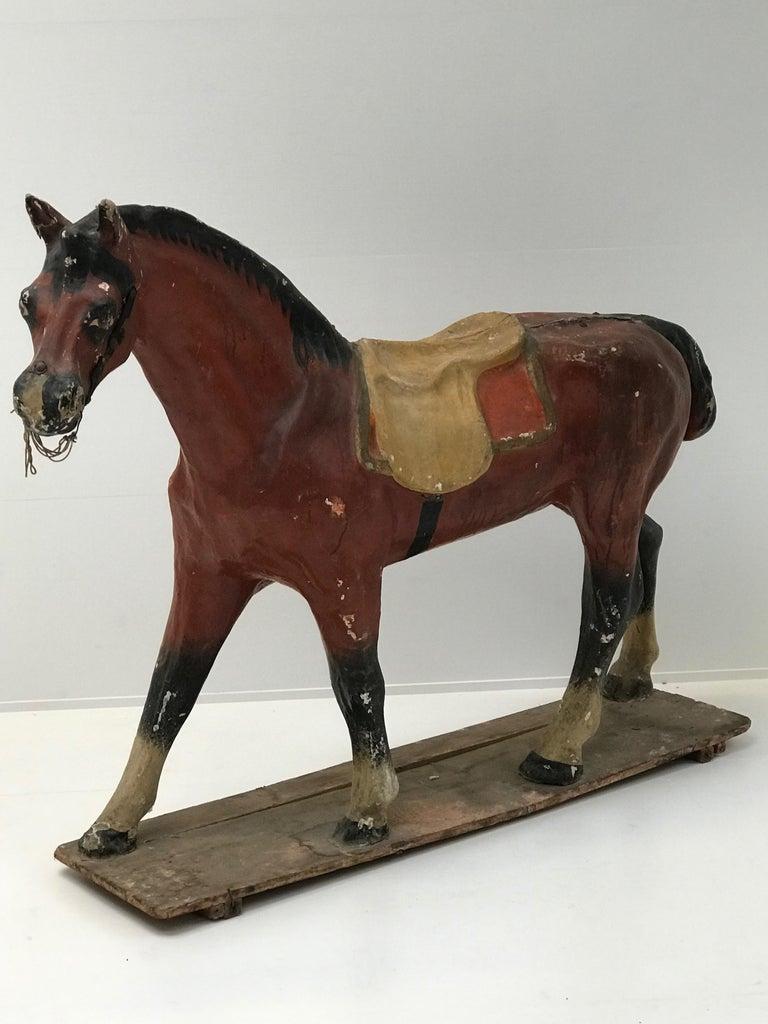 20th Century Papier Mâché Horse For Sale