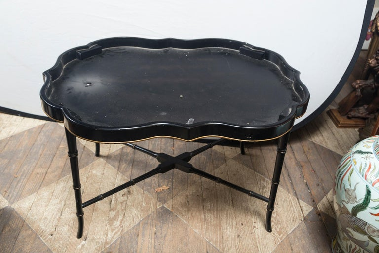 Papier Mâché Tray on Stand For Sale 2