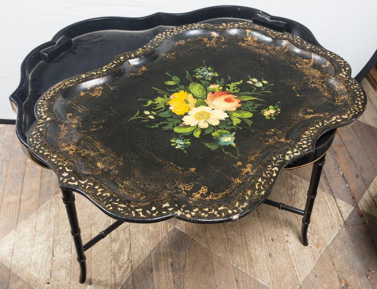 Other Papier Mâché Tray on Stand For Sale