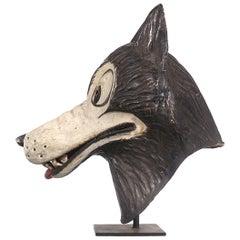 Papier Mâché Wolf Mask, Disney