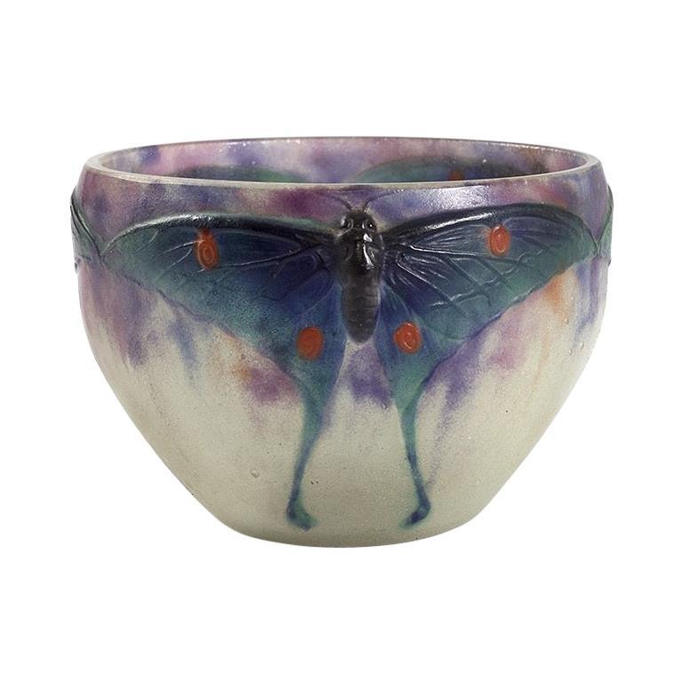 """""""Papillon"""" Bowl by Gabriel Argy-Rousseau For Sale"""