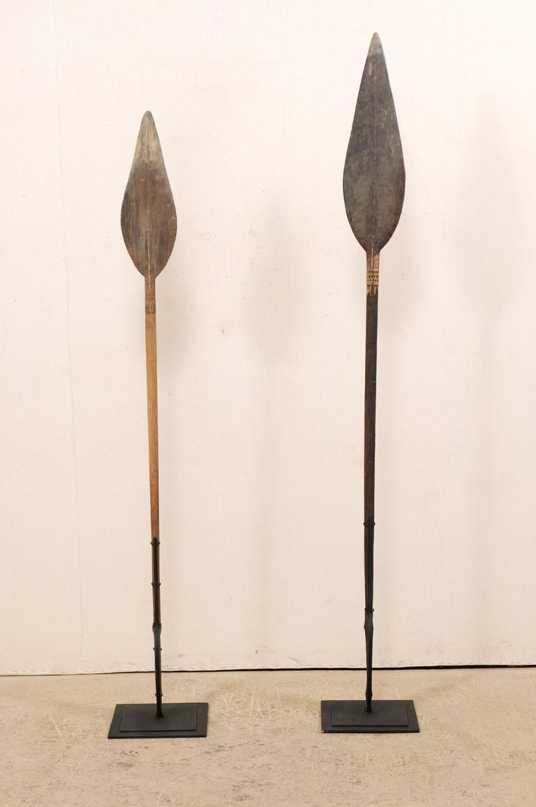 Papua New Guinea Carved Paddles In Good Condition For Sale In Atlanta, GA