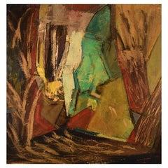 Pär Ivar Jogstad, Sweden, Oil on Canvas, Abstract Composition, 1969