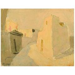 Pär Lindblad, Swedish Artist, Modernist City Motif, 1955