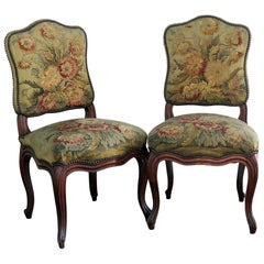 Par of Louis XVI Style Needle Point Side Chairs