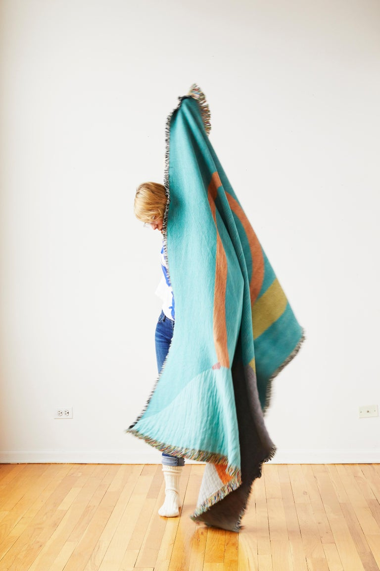 American Parabola Woven Throw by Studio Herron For Sale