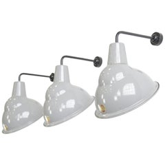 Parabolic Grey Enamel Wall Lights by Benjamin, circa 1950s