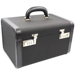 Parada Vanity Case in Canvas and Black Leather