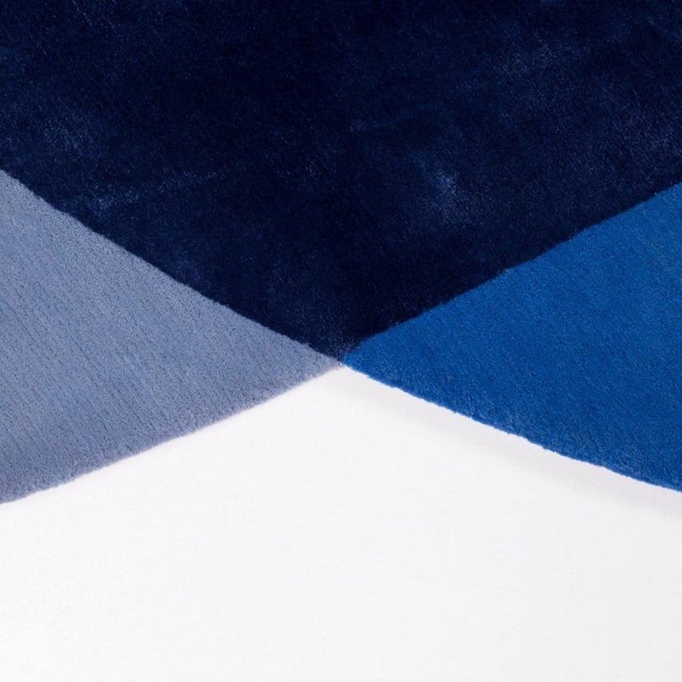 Modern Paradisoterrestre All Around Carpet in Blue by Pierre Gonalons For Sale