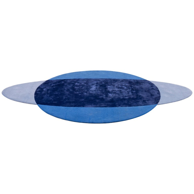 Paradisoterrestre All Around Carpet in Blue by Pierre Gonalons For Sale